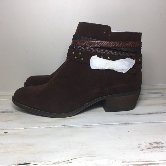 Shoes - New Suede Brown Ankle Boots